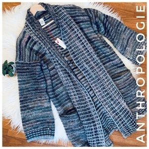 ANTHROPOLOGIE Italian knit cardigan sweater